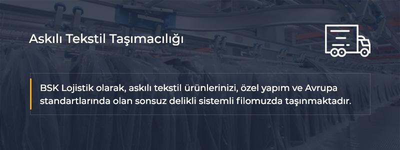 Askılı Tekstil Taşımacılığı İstanbul