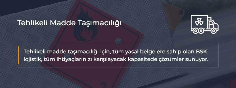 Tehlikeli Madde Taşımacılığı İstanbul